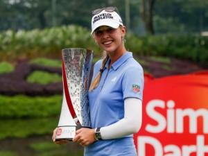 Jessica Korda of USA poses for photographs after winning the Sime Darby LPGA Malaysia golf tournament in Kuala Lumpur, Malaysia, 11 October 2015., Image: 262007979, License: Rights-managed, Restrictions: , Model Release: no, Credit line: Profimedia, TEMP EPA