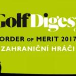 GOLF DIGEST ORDER OF MERIT 2017 – ZAHRANIČNÍ HRÁČI (k 30.6.2017)