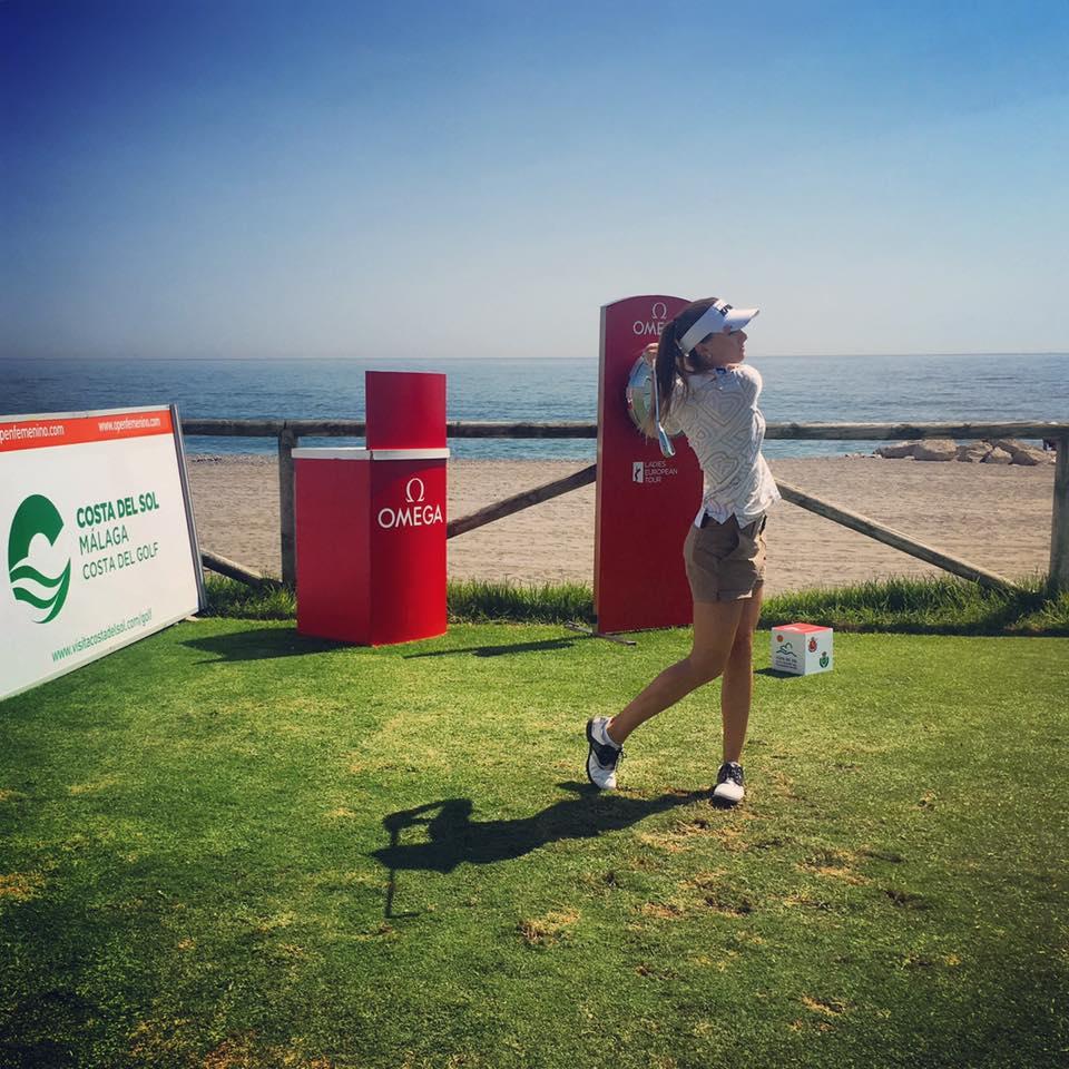 Klára Spilková při cvičném kole na hřišti Royal Club de Golf Guadalmina (Foto: Facebook Kláry Spilkové)
