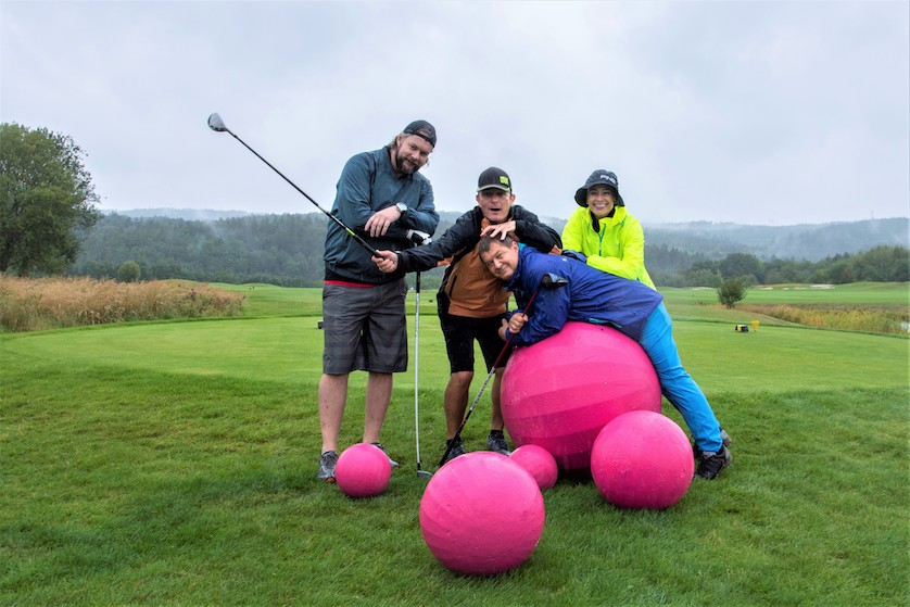 Golf Pink Bubble