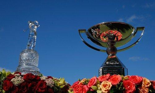 Trofej pro vítěze Tour Championship i trofej pro celkového vítěze FedEx Cupu (Foto: Profimedia)
