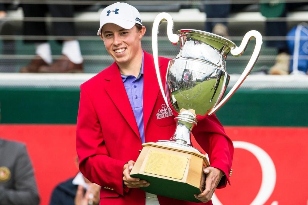 Matthew Fitzpatrick slaví zisk titulu ve Švýcarsku (Foto: Profimedia)