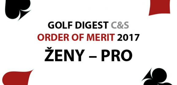 GOLF DIGEST C&S ORDER OF MERIT 2017 – ŽENY PRO (k 31.12.2017)