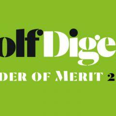 GOLF DIGEST C&S Order of Merit k 31.3.2018